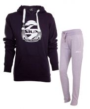 SIUX WOMEN OUTFIT BELICE NAVY SWEATSHIRT AND BANDIT GREY SWEATPANTS