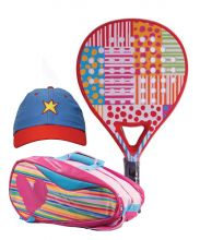 PACK AGATHA DOTS AND STRIPES AND HEART RELIEF PADEL RACKET BAG