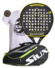 PACK BLACK CROWN REVOLUTION AND YELLOW PADEL RACKET BAG