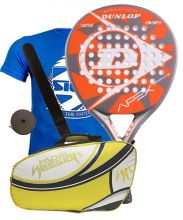 PACK DUNLOP APEX GRAPHITE AND PADEL SESSION PREMIUM PADEL RACKET BAG