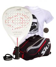 PACK VISION XIAM 1.5 AND SIUX MASTERCOMBI RED PADEL RACKET BAG