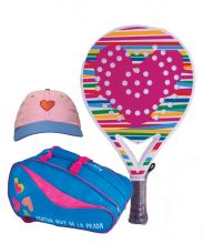 PACK AGATHA HEART RELIEF AND RAINBOW PADEL RACKET BAG