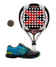PACK NOX STINGER 2.1 AND WILSON DEVO PADEL SHOES