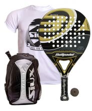 PACK BULLPADEL GOLD EDITION AND SIUX GREY BACKPACK
