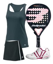 PACK BULLPADEL GOLD WOMAN 3.0 PADEL RACKET AND VARLION MAGENTA SHOES