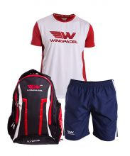 PACK WINGPADEL WOMBER RED BACKPACK, W QUILEN SHORTS AND W LALO RED SHIRT