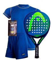PACK HEAD STRATOS PADEL RACKET, PADEL SESSION SHIRT AND A PAIR OF TROUSERS