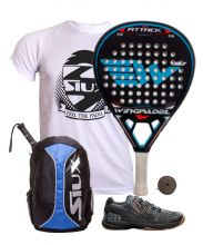 PACK WINGPADEL AIR ATTACK, WILSON PADEL SHOES AND SIUX BACKPACK