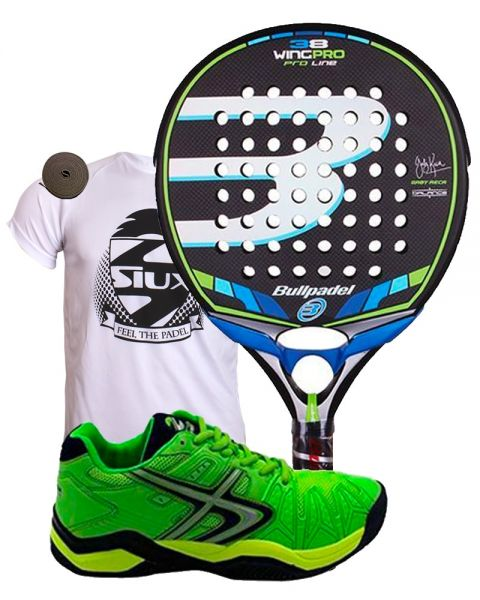 PACK BULLPADEL WING PRO Y SOFTEE WINNER 1.0 VERDE