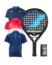 PACK BULLPADEL HACK CONTROL PADEL RACKET AND BULLPADEL POLO SHIRTS
