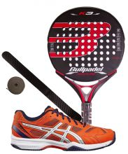 PACK BULLPADEL K3 LTD ROJA Y ZAPATILLAS ASICS EXCLUSIVE