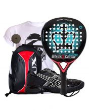 PACK BLACK CROWN SPIDER, SIUX BACKPACK AND SOFTEE WINNER 1.0 PADEL SHOES