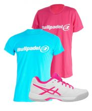 PACK ASICS GEL GAME 6 CLAY Y CAMISETAS BULLPADEL