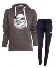 OUTFIT SIUX BELICE GREY WOMEN SWEATSHIRT AND BANDIT NAVY BLUE SWEATPANTS