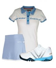 PACK VARLION SCHUHE V-PRO MAX S13, ROCK ORIGINAL CELESTE & POLO ORIGINAL WEISS