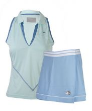PACK VARLION ANNIVERSARY SKY BLUE SKIRT AND MD12S07 SKY BLUE POLO SHIRT