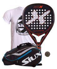 PACK NOX ULTIMATE AND SIUX MASTERCOMBI BLUE PADEL RACKET BAG