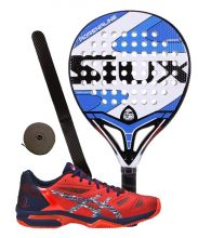 PACK SIUX ADRENALINE AND ASICS GEL LIMA PADEL DIVA RED PADEL SHOES