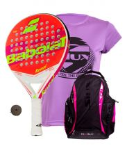 PACK BABOLAT REVEAL AND SIUX DIABLO FUCHSIA BACKPACK