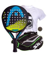 PACK HEAD STRATOS PRO AND SIUX MASTERCOMBI GREEN PADEL RACKET BAG