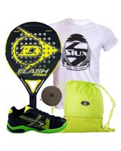PACK DUNLOP FLASH PRO YELLOW AND SOFTEE WINNER 1.0 BLACK GREEN