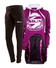 PACK SIUX DIABLO FUCHSIA BACKPACK, SIUX SWEATSHIRT AND SIUX SWEATPANTS