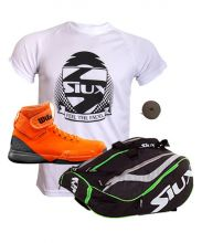 PACK WILSON AMPLIFEEL ORANGE PADEL SHOES AND SIUX MASTERCOMBI GREEN PADEL RACKET BAG
