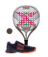 PACK NOX STINGER 2.1 JR GIRL AND WILSON ASTRAL PADEL SHOES