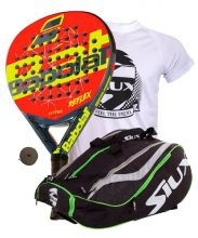 PACK BABOLAT REFLEX AND SIUX MASTERCOMBI GREEN PADEL RACKET BAG