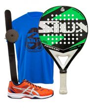 PACK SIUX TSUNAMI GREEN AND ASICS GEL PADEL EXCLUSIVE 4 SG