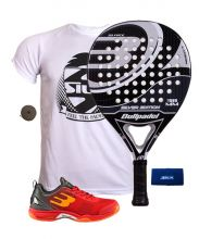 PACK BULLPADEL SILVER EDITION Y ZAPATILLAS BULLPADEL BEWER