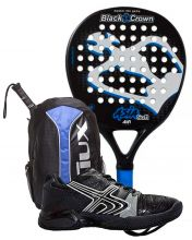PACK BLACK CROWN ASIA SOFT, SIUX BACKPACK AND SOFTEE PADEL SHOES