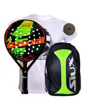 PACK BABOLAT DEFIANCE CARBON AND SIUX YELLOW BACKPACK