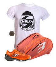 PACK BULLPADEL HACK KNIT PADEL SHOES AND ORANGE PADEL RACKET BAG