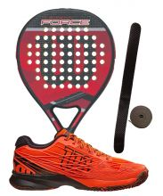 PACK WILSON CARBON FORCE 2016 AND WILSON KAOS PADEL SHOES