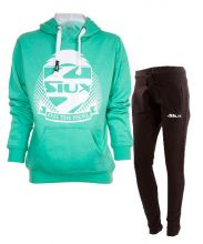 SIUX WOMEN OUTFIT TURQUOISE SWEATSHIRT AND BLACK SWEATPANTS