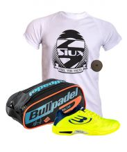 PACK BULLPADEL VERTEX 18 YELLOW PADEL SHOES AND BBPP-18001 PADEL RACKET BAG