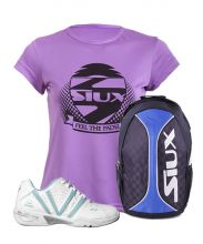 PACK VARLION V-ADV SKY BLUE WOMEN PADEL SHOES AND SIUX BACKPACK