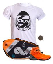 PACK WILSON AMPLIFEEL PADEL SHOES AND EME ORANGE PADEL RACKET BAG