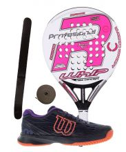 PACK ROYAL PADEL RP 790 WHIP WOMEN 2016 AND WILSON ASTRAL PADEL SHOES