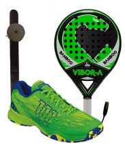 PACK VIBORA BAMBOO LIQUID Y ZAPATILLAS WILSON KAOS CLAY COURT