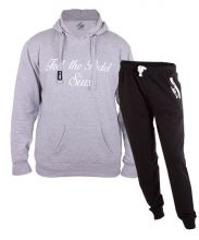 SIUX OUTFIT CLASSIC GREY SWEATSHIRT AND DIABLO BLACK SWEATPANTS