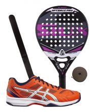 PACK SIUX OPTIMUS PRO FUCHSIA ET CHAUSSURES ASICS GEL PADEL EXCLUSIVE 4 SG