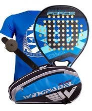 PACK WILSON CARBON FORCE AZUL Y PALETERO WINGPADEL