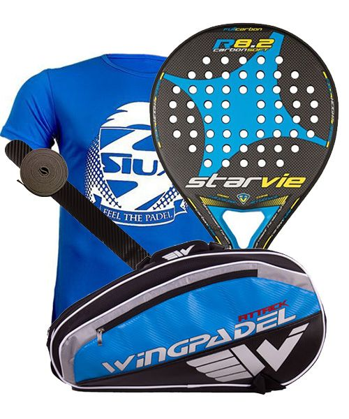 PACK STAR VIE R8.2 CARBON SOFT 2017 Y PALETERO WINGPADEL ATTACK
