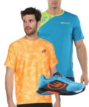 PACK BULLPADEL VERTEX 20V AZUL Y 2 CAMISETAS