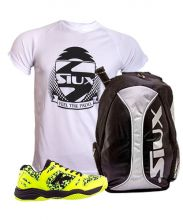 PACK KELME K SPIKE LIME PADEL SHOES AND SIUX TRAIL SILVER BACKPACK