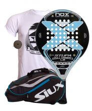 PACK NOX STUPA LUXURY FULL CARBON L5 AND SIUX MASTERCOMBI BLUE PADEL RACKET BAG