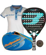 PACK BULLPADEL VERTEX 2 WOMAN PALETERO Y POLO VARLION