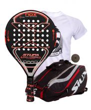 PACK NOX STUPE FULL CARBON HYBRID AND SIUX MASTERCOMBI RED PADEL RACKET BAG